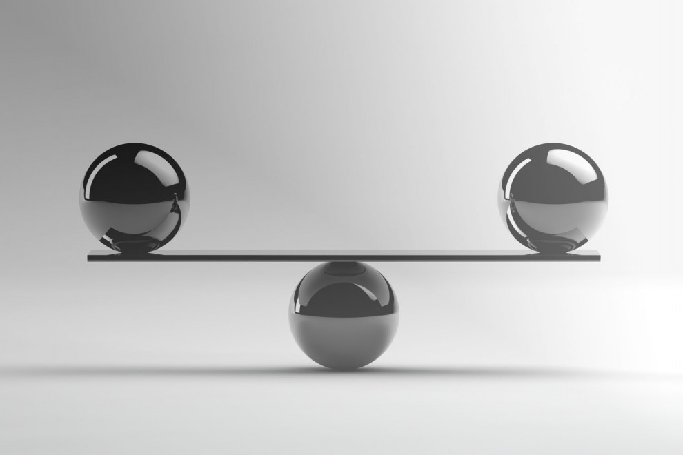 two metal balls of equal weight